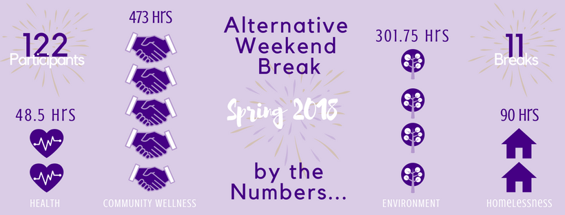Alternative Weekend Break Spring Infograph