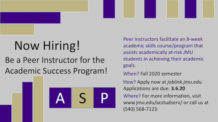 Now Hiring ASP Peer Instructors!