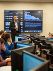 The Capital Markets Lab gives undergraduates real-time access to financial data and information technology.