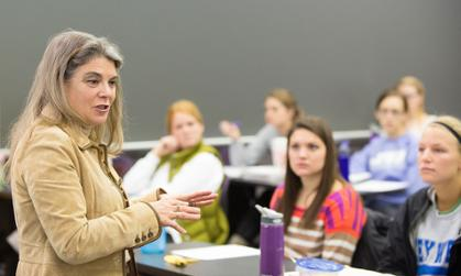Professor teaching in JMU's College of Education