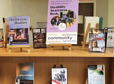 photo of Libraries book display on Accessibility