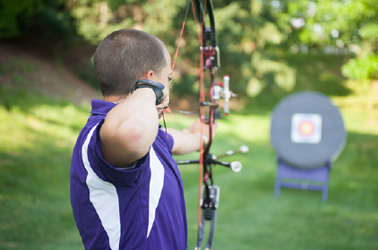 Daniel Suter archery photo by Katie Landis.