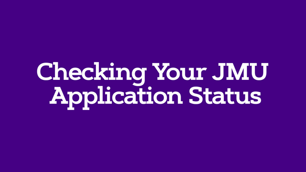 Check Your JMU Application Status