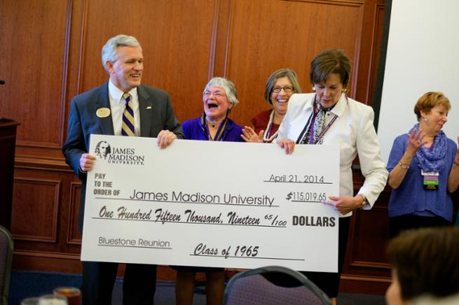 Class of 1965 makes $115,000 gift!