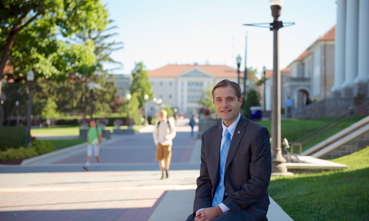 Nick Langridge, acting vice president for university advancement
