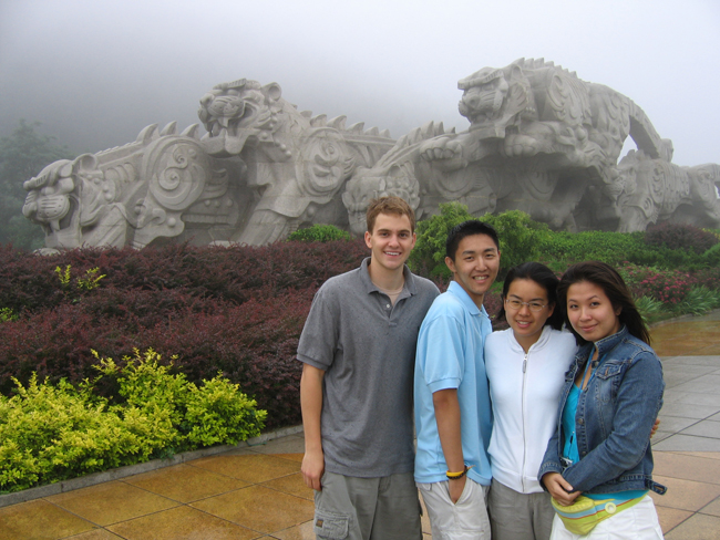 4 students in China