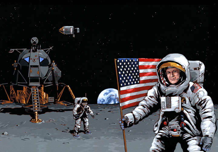 Richard Hilliard's work of Apollo 11 mission