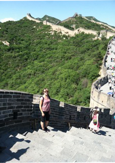 Jenny Ramirez by the Great Wall of China