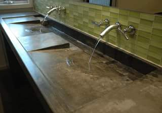 Example of Evelyn Tickle's concrete work with sinks