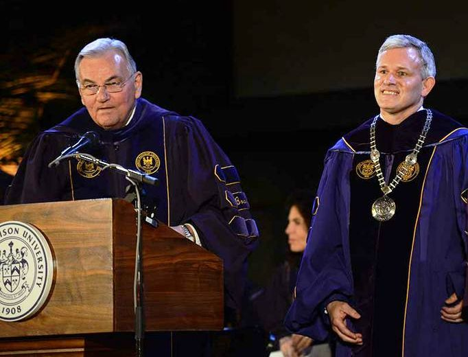 JMU President Alger wearing chain of office