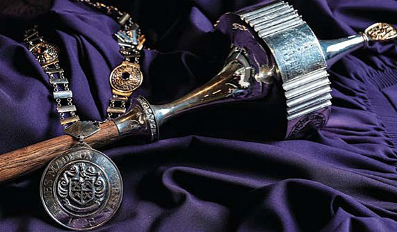 JMU mace and chain of office