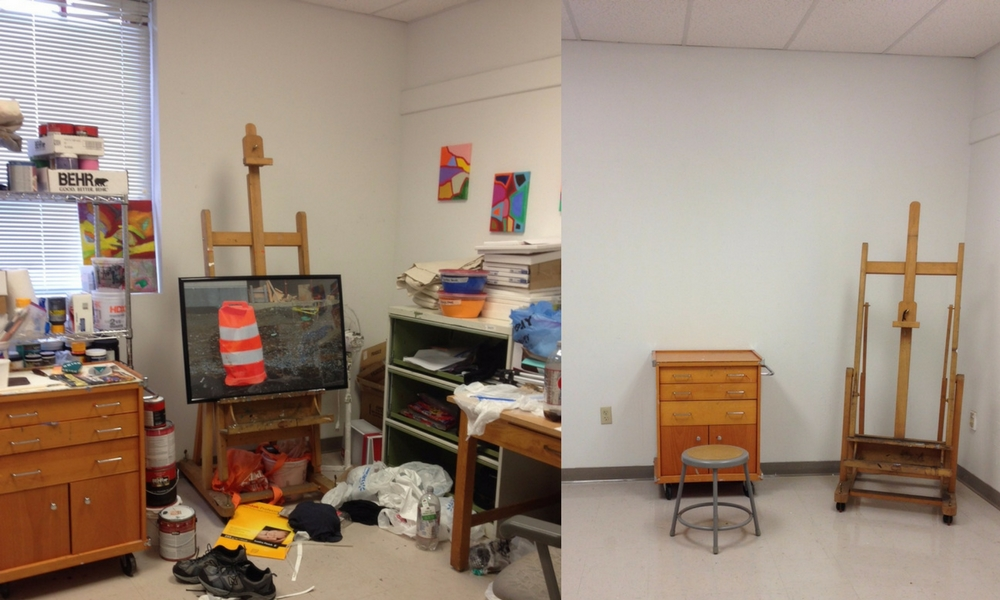 Grad Studio room; left-side, occupied; right-side, unoccupied