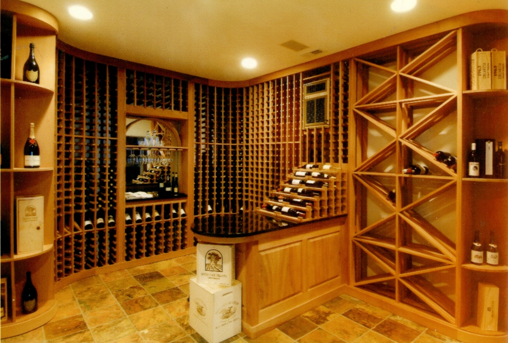 Example of Eric Morris' work: a wine cellar