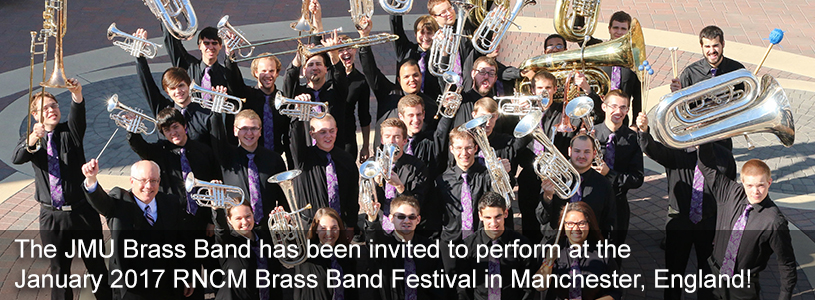 Perform at international festivals with the JMU Brass Band