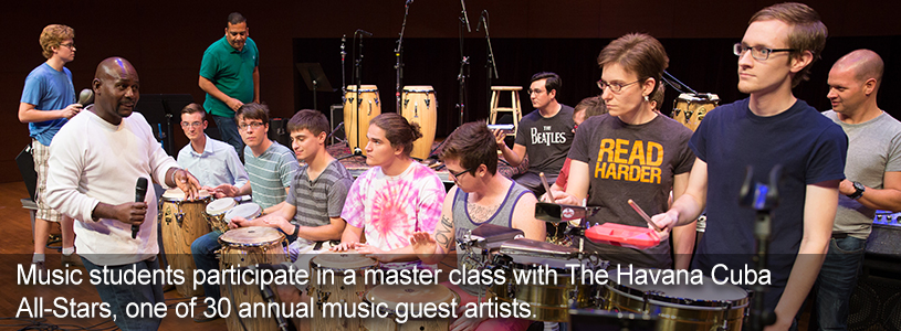 Participate in music master classes