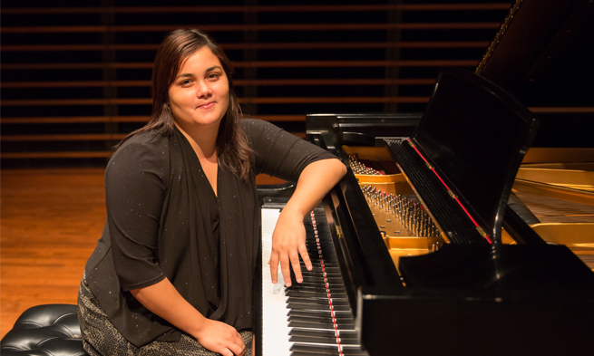 Yanet Bermudez at the piano
