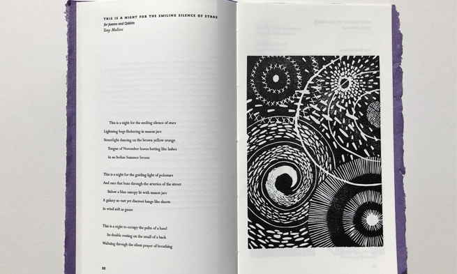 Kelsey Waugh Furious Flower Chapbook Carving