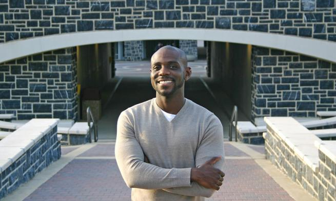 Music alumn Omar Thomas visits the JMU Forbes Center