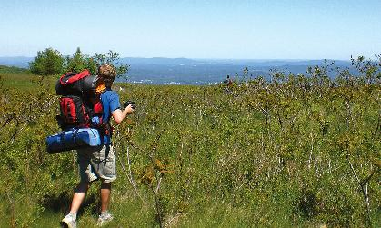 Mat Cloak ('10) checks out the scenic view along the Appalachian Trail.
