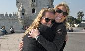 Caroline F. Braun ('09), left, with Lindsay Casale ('09) in Portugal