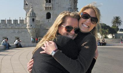 Caroline F. Braun and Lindsay Casale in Portugal