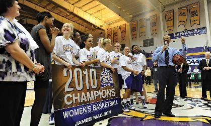 JMU Women's Basketball wins the 2010 CAA Championship