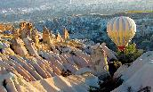 A hot air balloon over Cappadocia