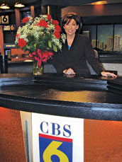 Julie Bragg Sheppard ('94) is living her dream of being a local news anchor at CBS affiliate WTVR-6 in Richmond, Va.