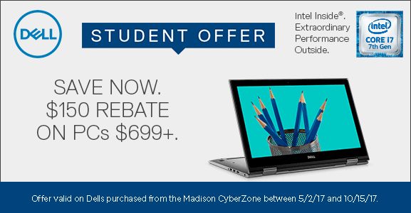 Dell 2017 Student Offer - $150 Rebate