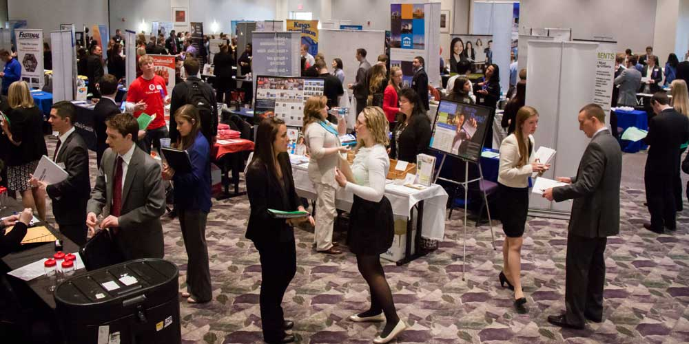 160 employers recruit at JMU Career & Internship Fair each fall & spring.
