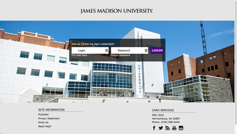 James Madison University - Online FLEX Deposit Tutorial