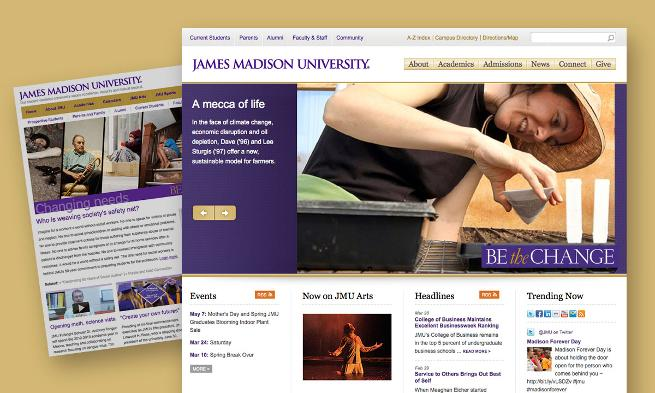 JMU CMS Screen Shots