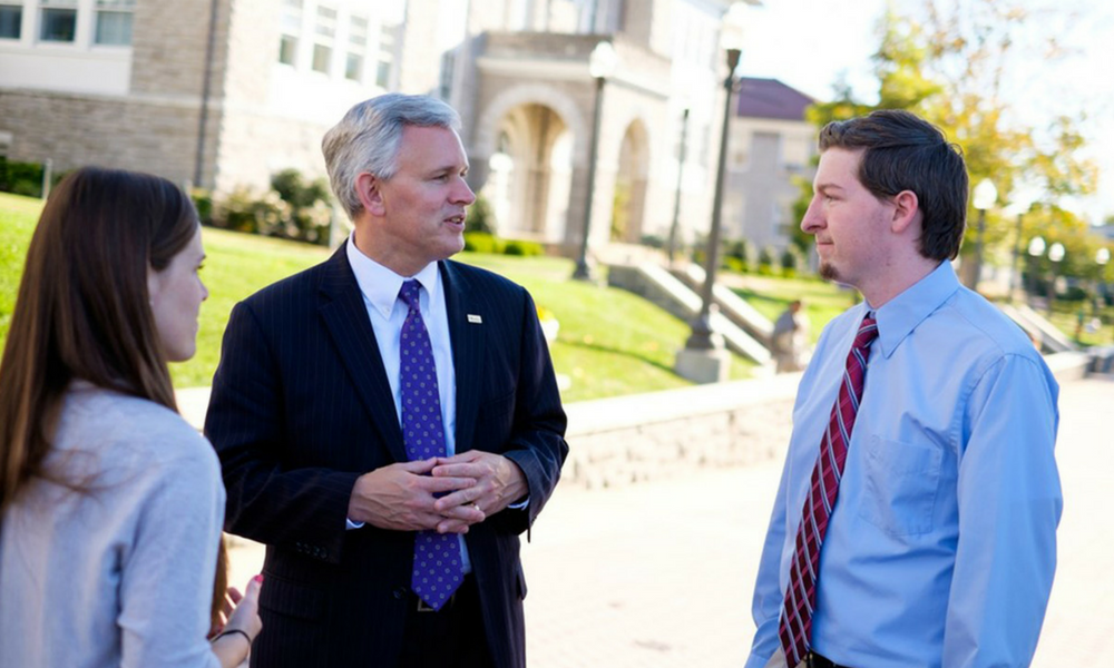 President Alger engages with CSP students