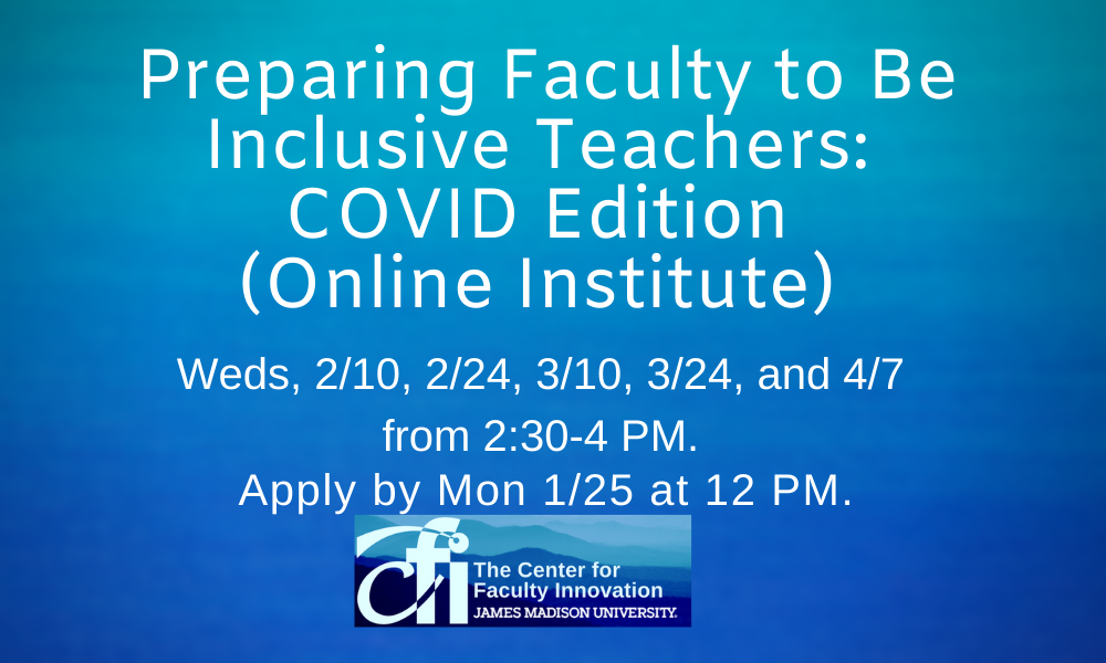 Preparing Faculty to be Inclusive Teachers institute