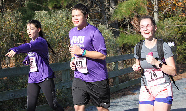 PHOTO: JMU students in marathon