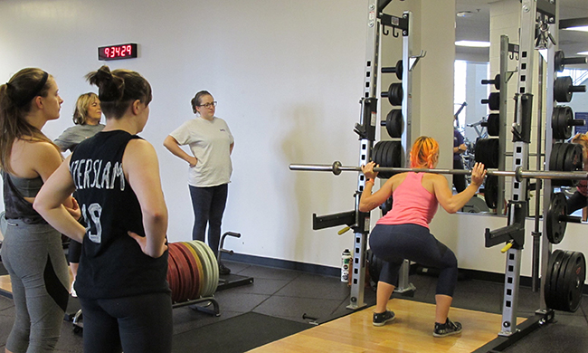PHOTO: Barbells and brunch event