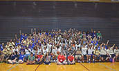 JMU students and athletes with special olympics