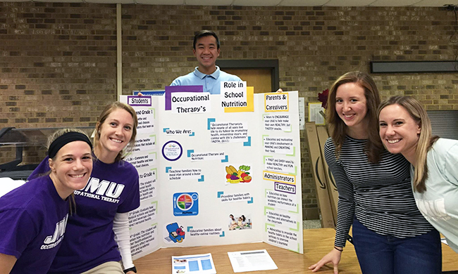 PHOTO: JMU students at health fair