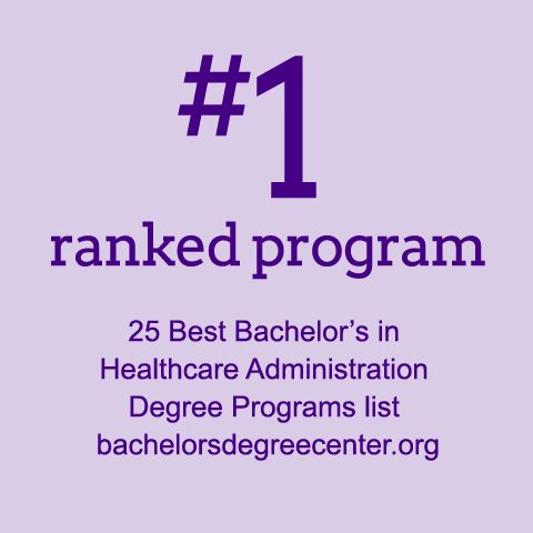#1 ranked HSA program bachelorsdegreecenter.org