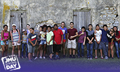 Group photo of children at camp