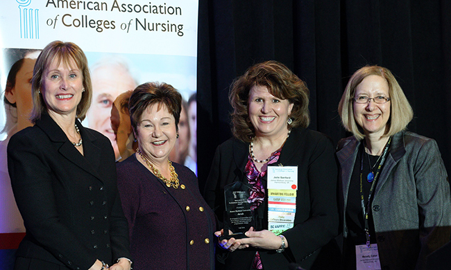 PHOTO: JMU Faculty receiving award
