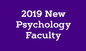 2019 New Psychology Faculty