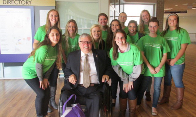 JMU SW students with commissioner on aging