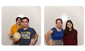 JMU students in photo booth