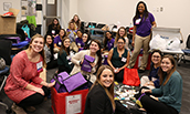 PHOTO: JMU Nursing students assemble hygiene packs