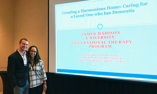 PHOTO: JMU students present at conference