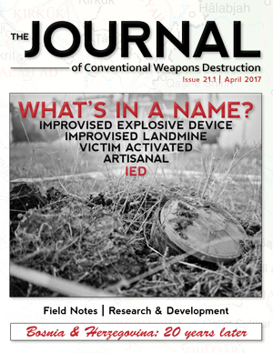 The Journal of Conventional Weapons Destruction Issue 21.1