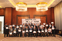 SMC Tajikistan 2018 participants celebrate receiving their course certificates