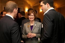 Dean, Mary Gowan, at a NYC Reception with CoB Alumni