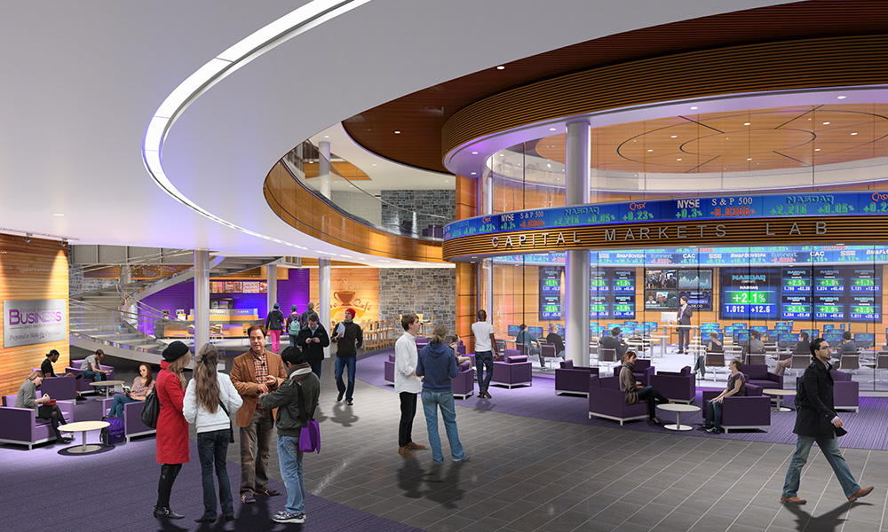 Artist Rendering of future Capital Markets Lab in CoB Learning Complex